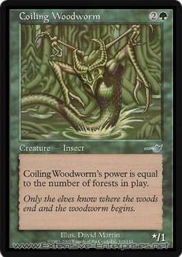 Coiling Woodworm