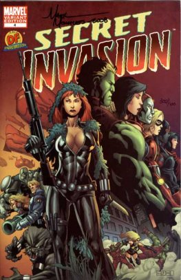 Secret Invasion #4 (Dynamic Forces, Signed by Mark Morales)