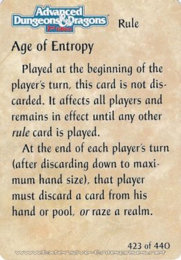 Age of Entrophy