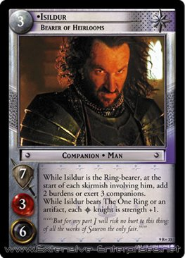 Isildur, Bearer of Heirlooms