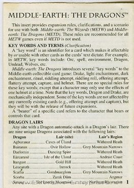 Middle-Earth The Dragons Rule Book