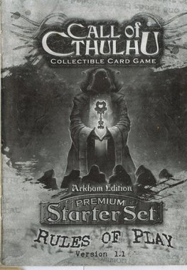 Call of Cthulhu Arkham Edition Rule Book
