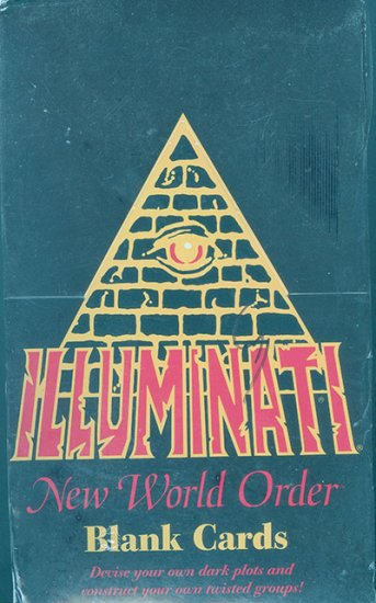 Illuminati New World Order Blank Cards, Booster Box - Click Image to Close