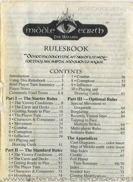Middle-Earth The Wizards (Unlimited) Rule Book