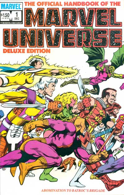 Official Handbook of the Marvel Universe, The #1