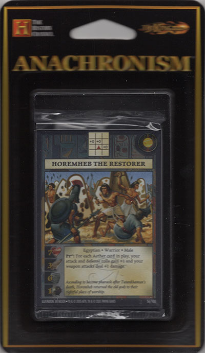 Anachronism Horemheb the Restorer, Booster Pack
