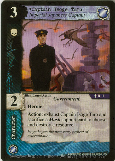 Captain Isoge Taro, Imperial Japanese Captain