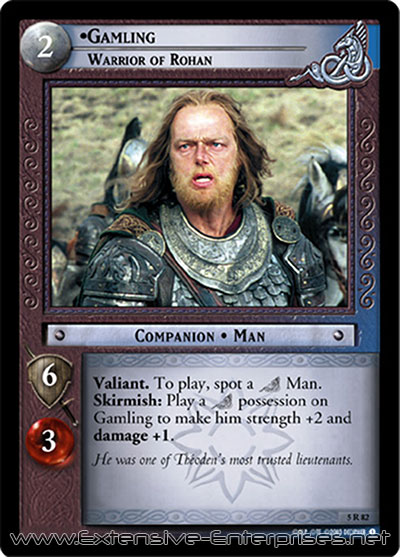 Gamling, Warrior of Rohan
