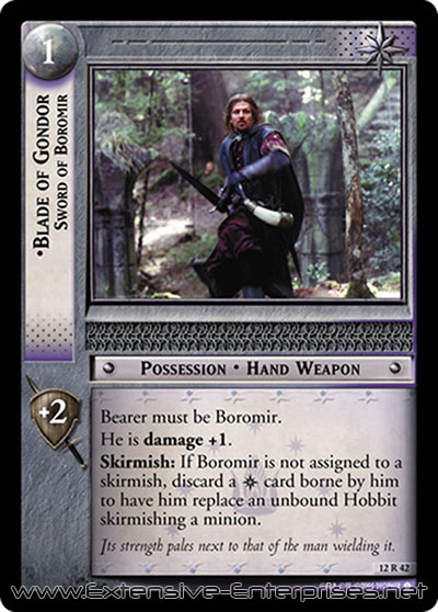 Blade of Gondor, Sword of Boromir