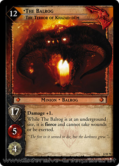 Balrog, The Terror of Khazad-Dûm