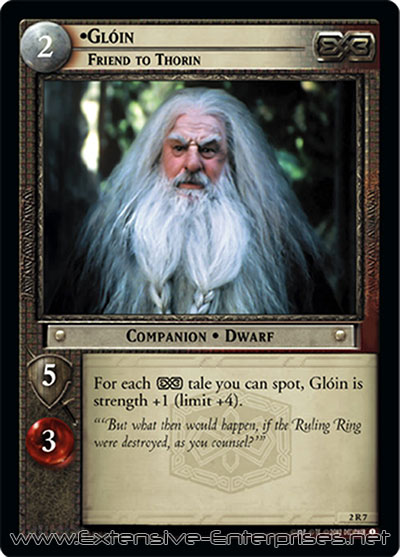 Glóin, Friend to Thorin