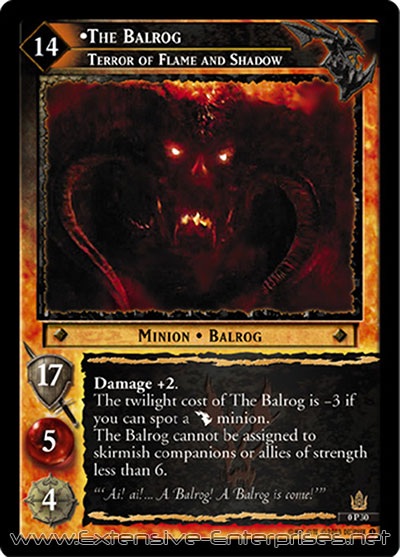 Balrog, Terror of Flame and Shadow