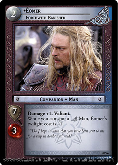 Éomer, Forthwith Banished