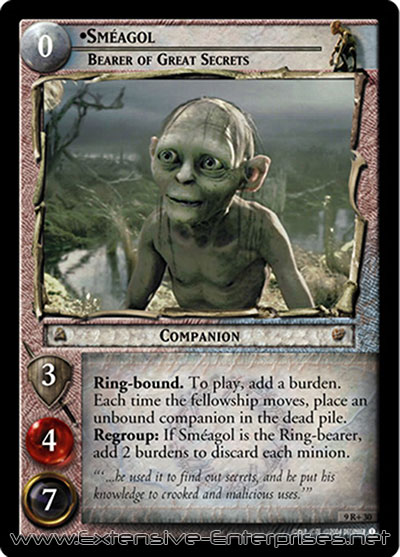 Sméagol, Bearer of Great Secrets