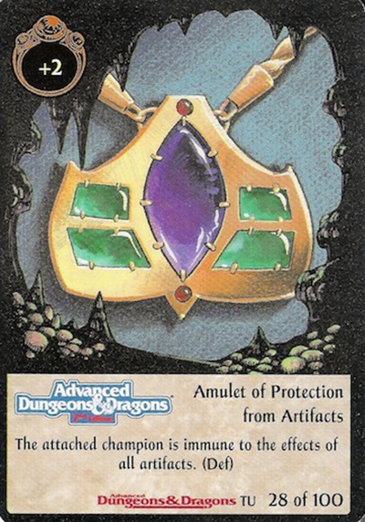 Amulet of Protection from Artifacts