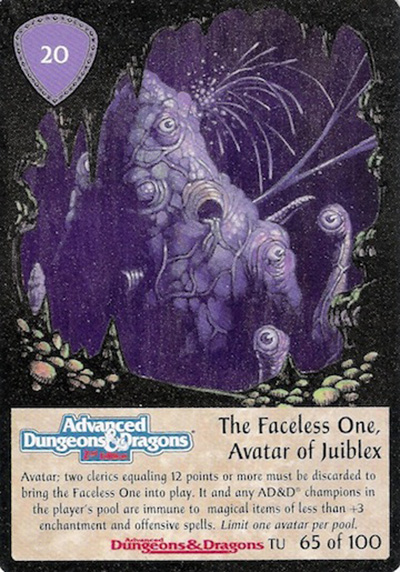 Faceless One, Avatar of Jubilex, The