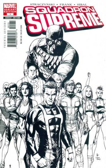 Squadron Supreme #1 (Gary Frank Sketch, 1in35 Incentive)
